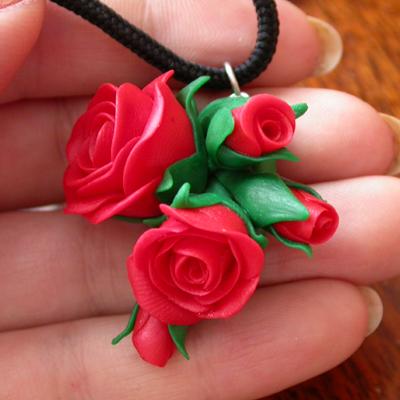 Из полимерной глины розы своими руками