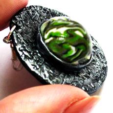 полимерная глина имитация серебра, имитация камня урок